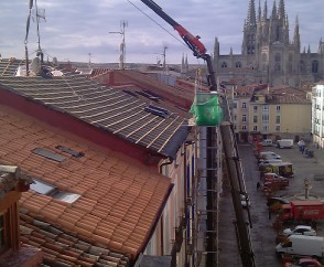 Grúas de rescate en Burgos