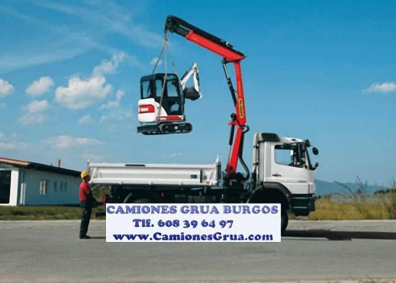Alquiler de Camiones grua autocargantes en Burgos