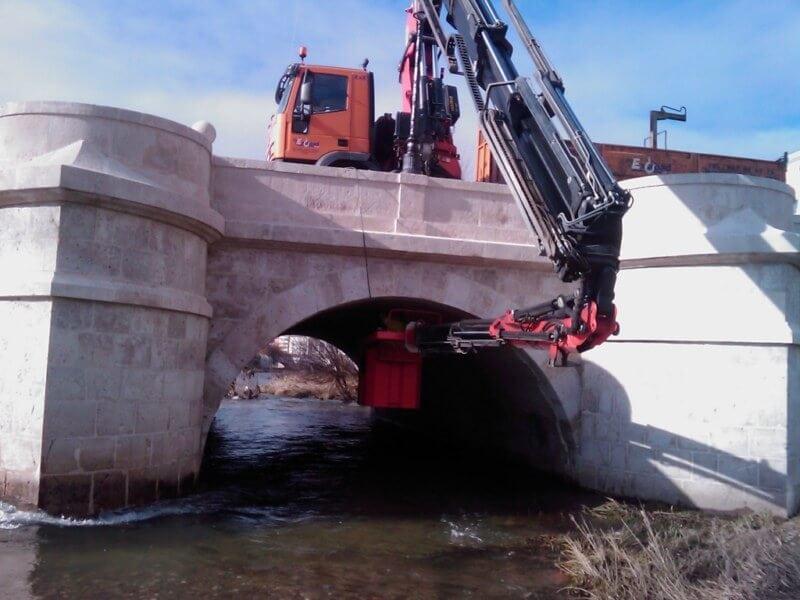 Alquiler de camion grua hidraulica articulada Burgos