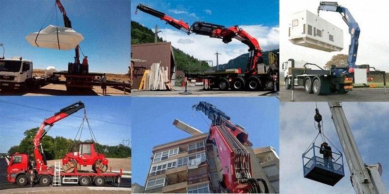 Alquiler de camiones grua en Burgos y transportes