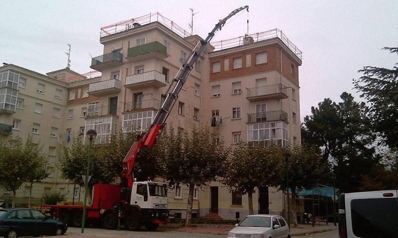 Camiones grua moviles en Burgos