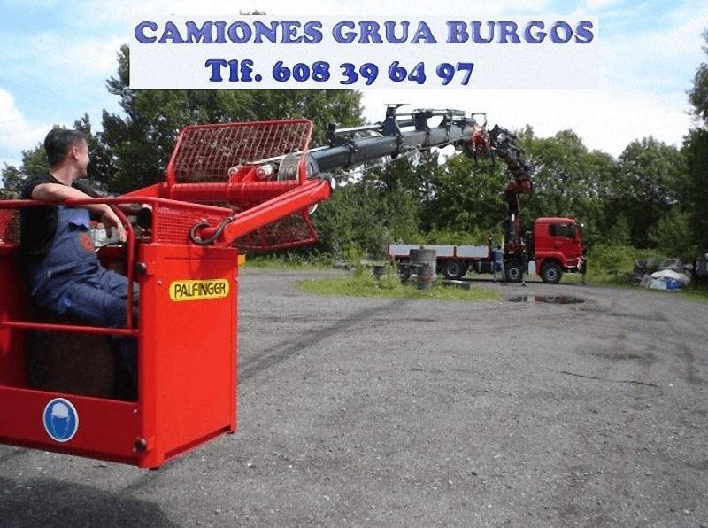Camiones grua portamaquinas en Burgos