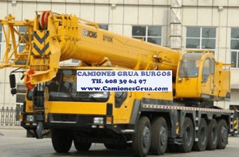 Empresa alquiler camiones gruas Burgos