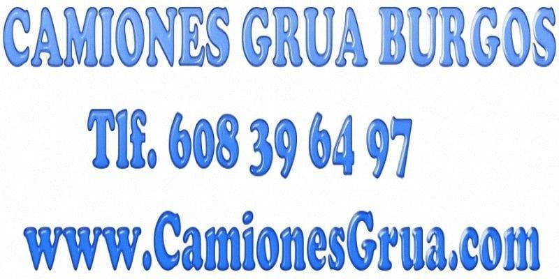 Empresa de alquiler de camiones gruas en Burgos
