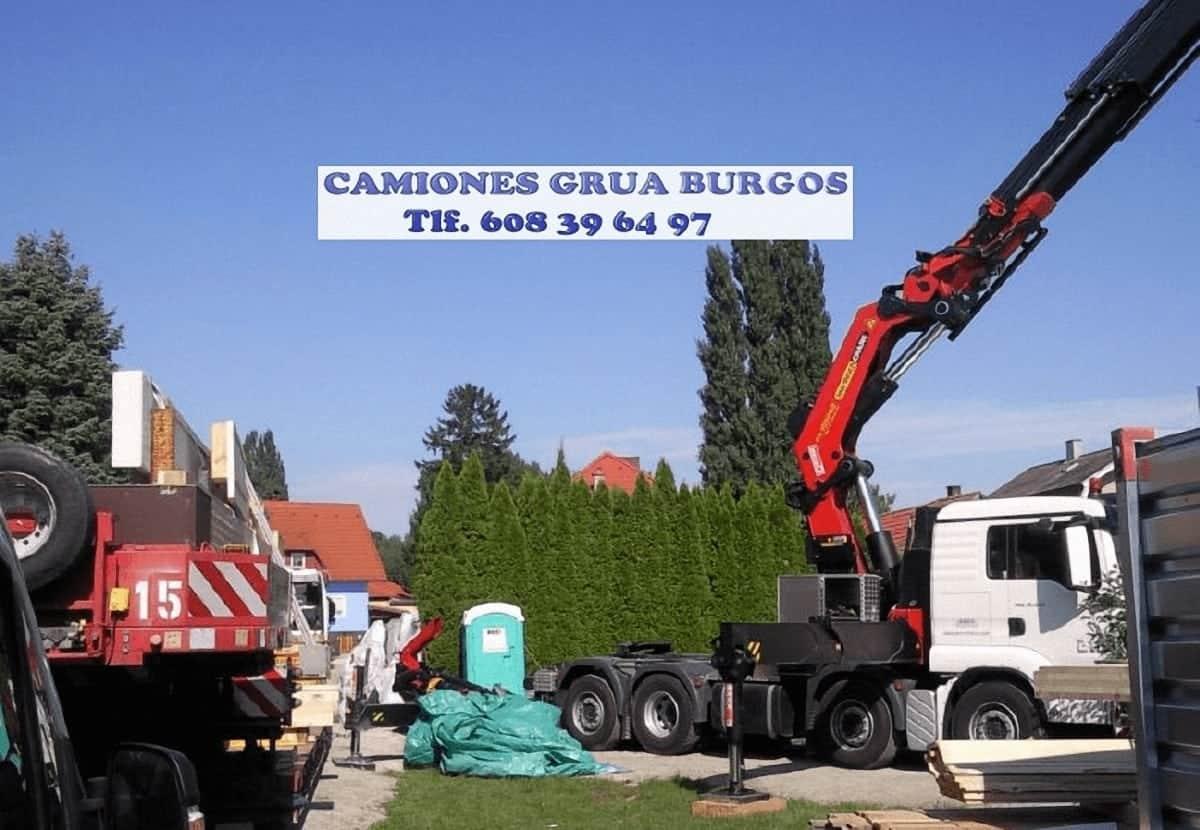 Alquiler camion brazo en Burgos