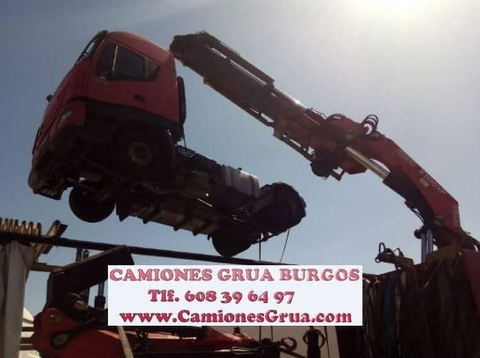 Camion grua rescate Burgos