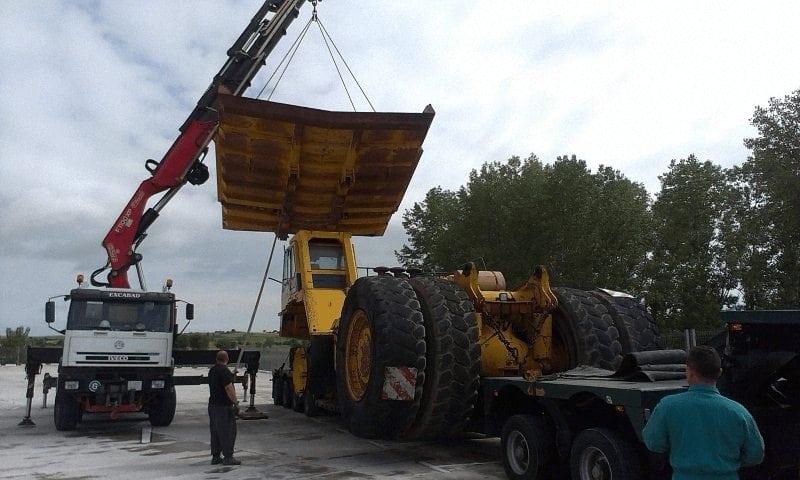 Camiones grua de rescate en Burgos