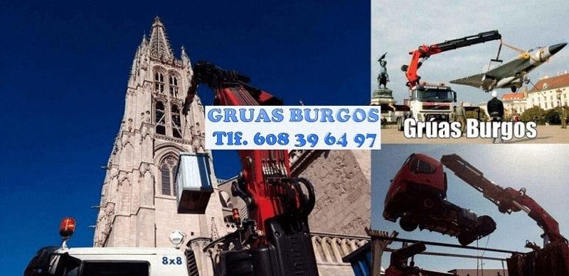 Camiones grua flotantes en Burgos