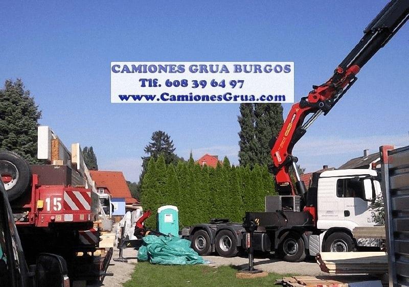 Descarga de maquinaria pesada en Burgos