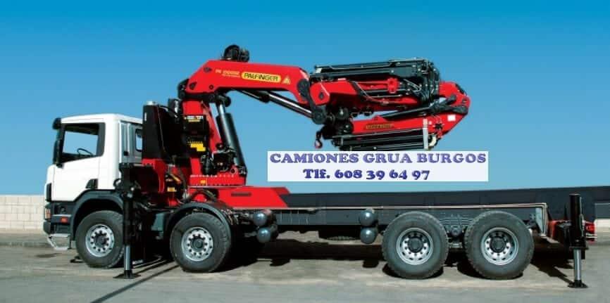 Empresa de camiones con brazo en Burgos
