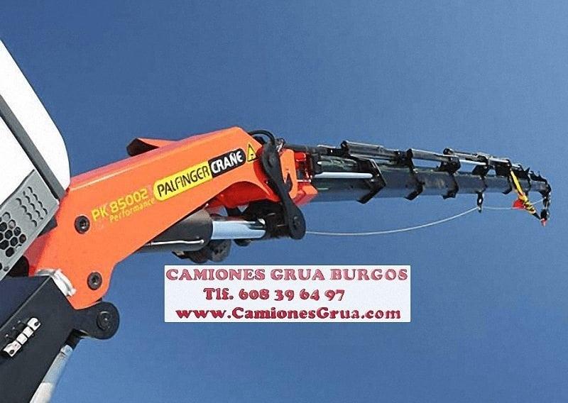 Empresas de alquiler de camiones con brazo en Burgos