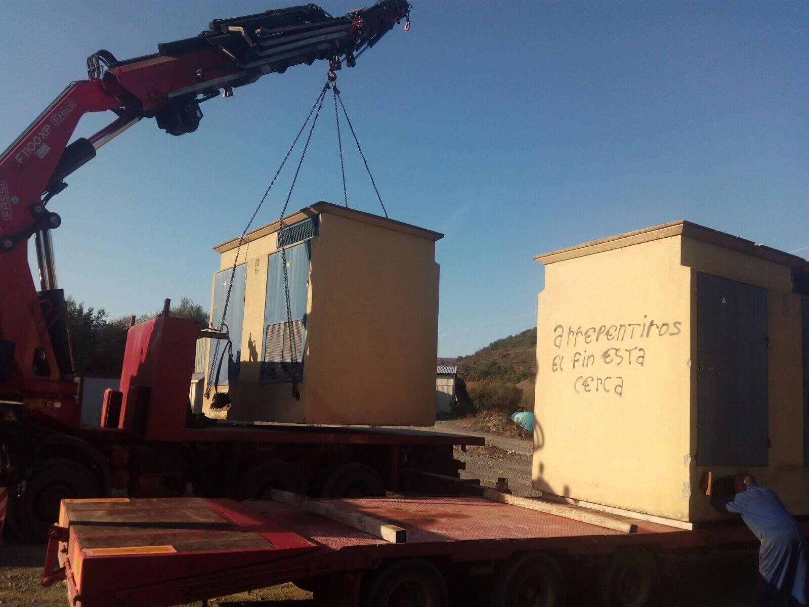 Trabajos de camiones grua en Burgos