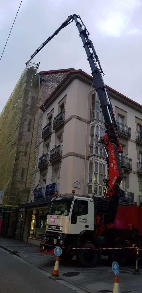 camion pluma Burgos