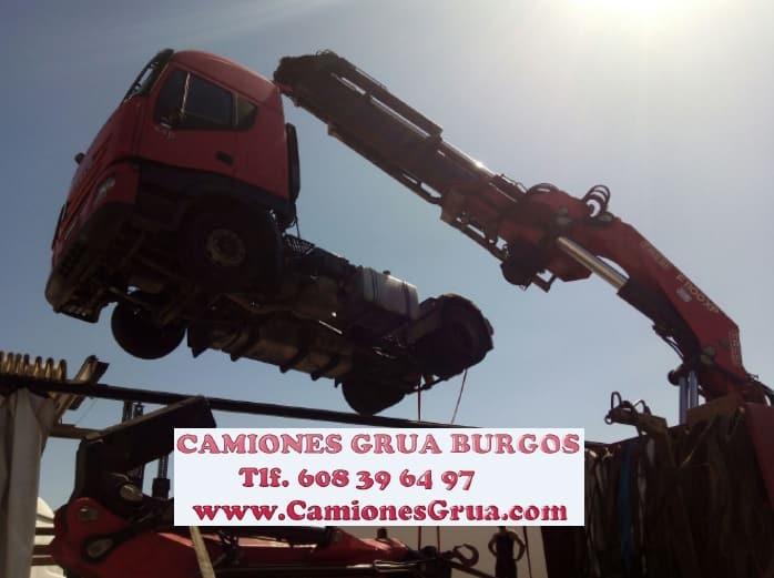 Trabajos garantizados empresa de camiones grúa en Burgos
